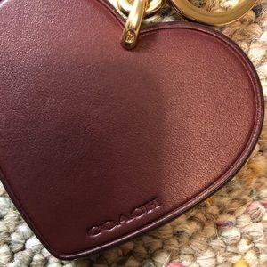 Coach Accessories - 🆕 Coach Signature Stripe Heart Bag  & Key Fob